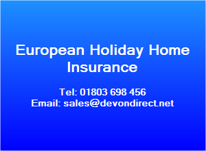 For European Holiday Home Insurance & Property Insurance overseas cover,